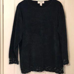 Vintage United States dark green Sweater size 14!